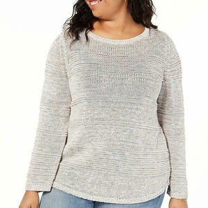 Style & Co Size 2X Textured Stripe Sweater SW1